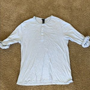 Rolled sleeve Henley